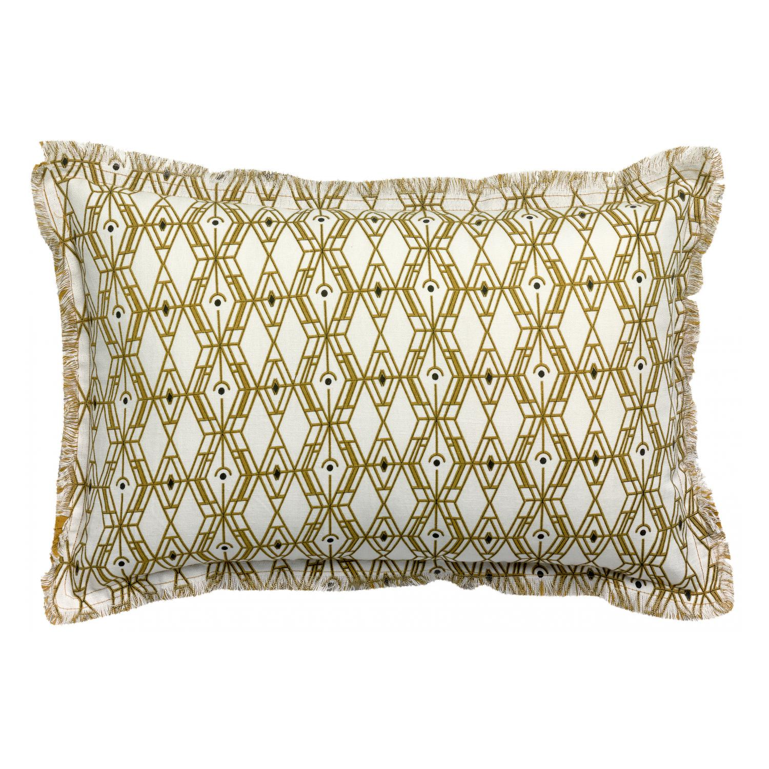 Coussin  en coton bronze 40 x 65 (photo)
