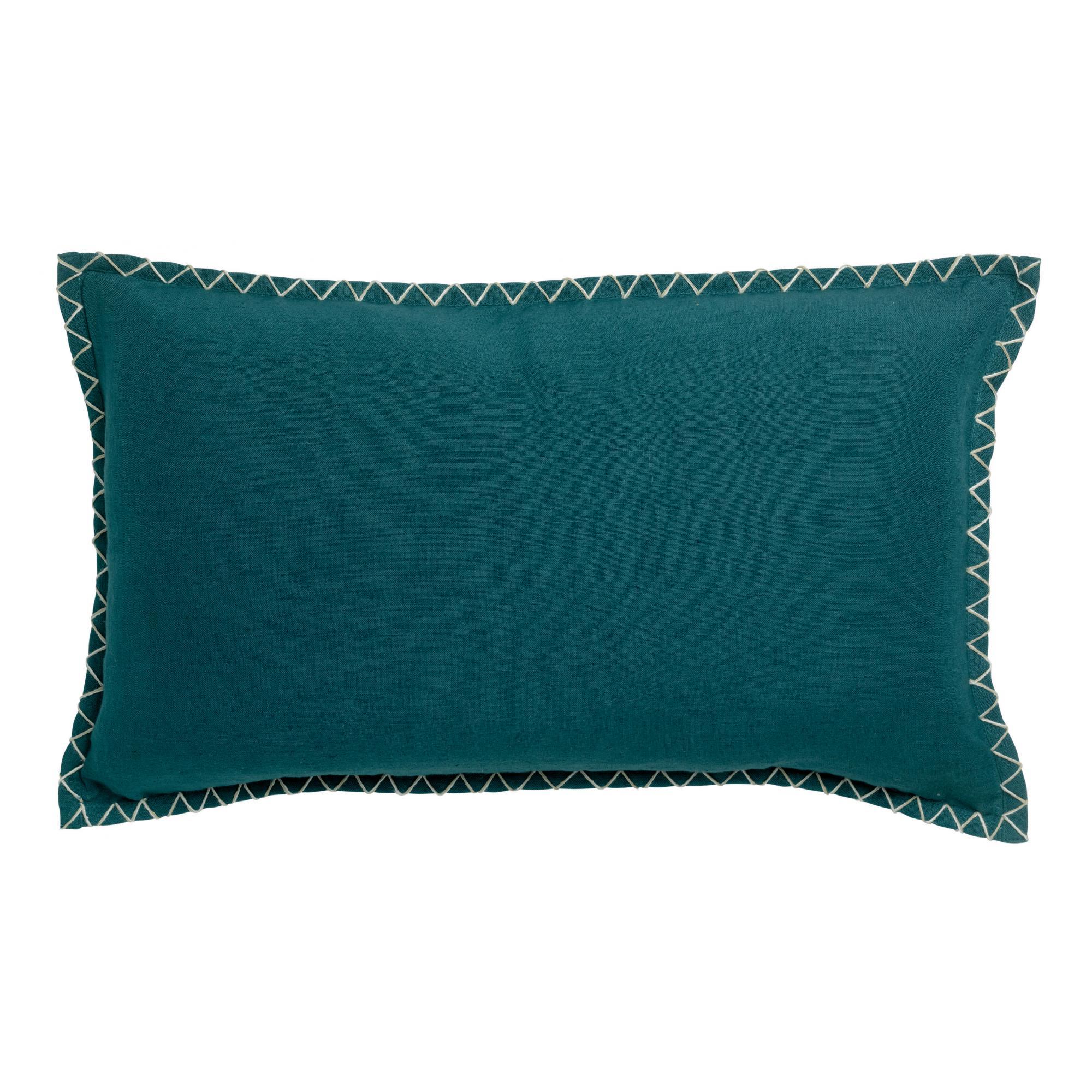 Coussin  en coton paon 30 x 50