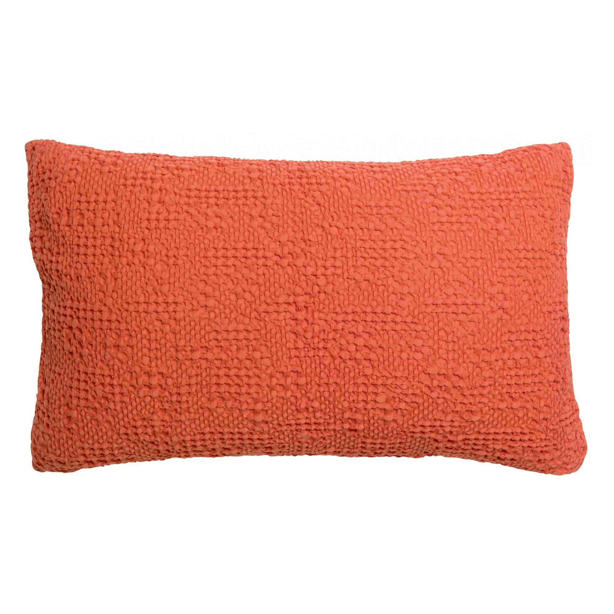 Coussin stonewashed  en coton marmelade 40 x 65