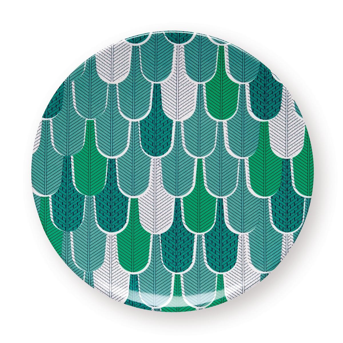Assiette de table géométrique vert