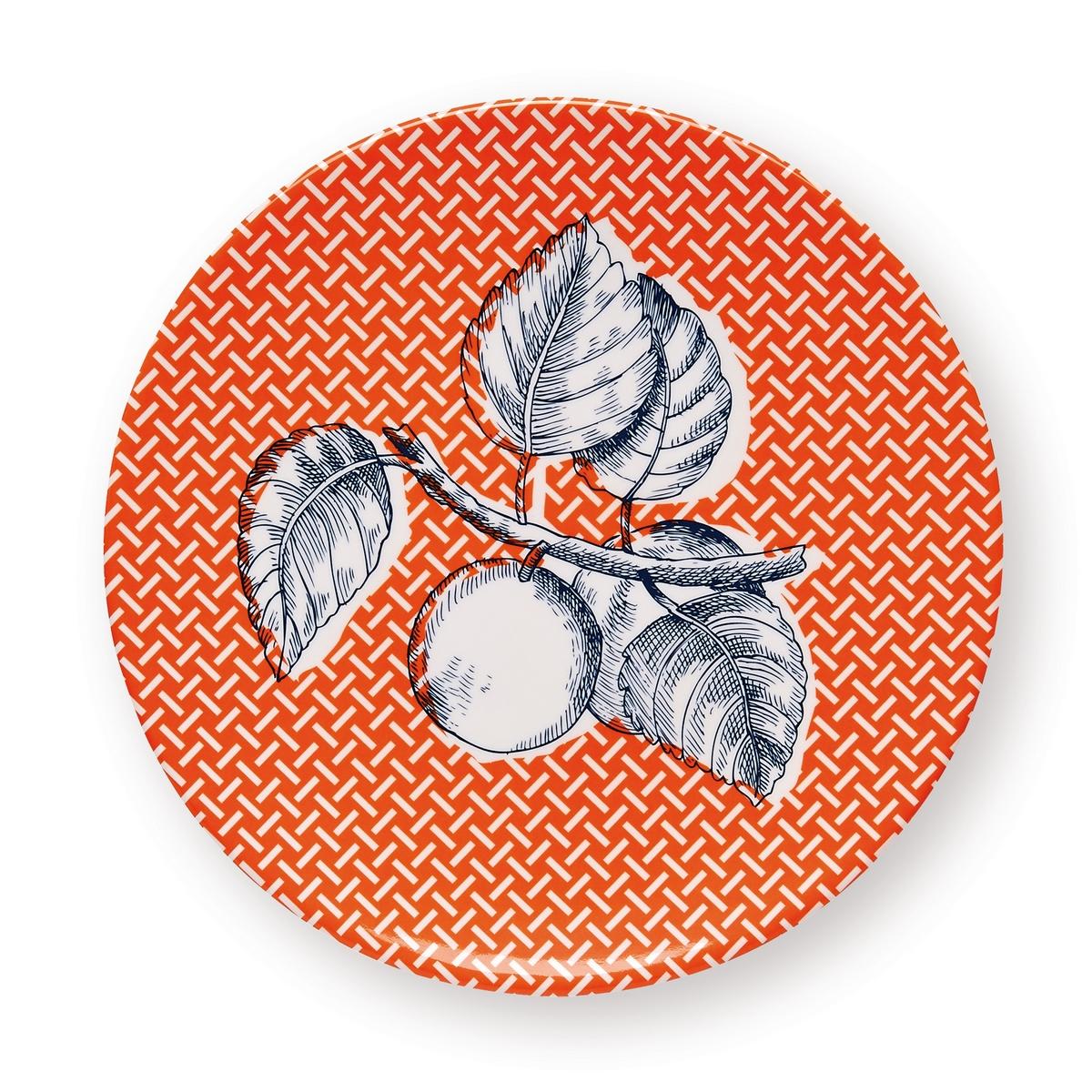 Assiette de table branche orange