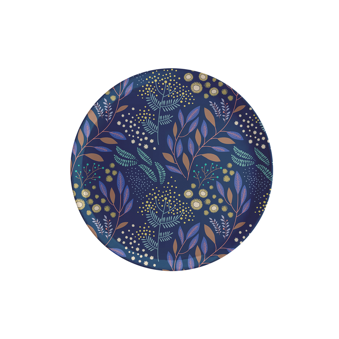 Plateau rond en bois mimosa 35 cm