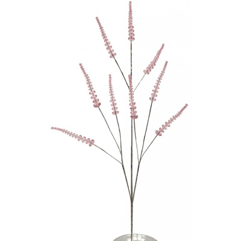 Branche de fleur perle façon cristal