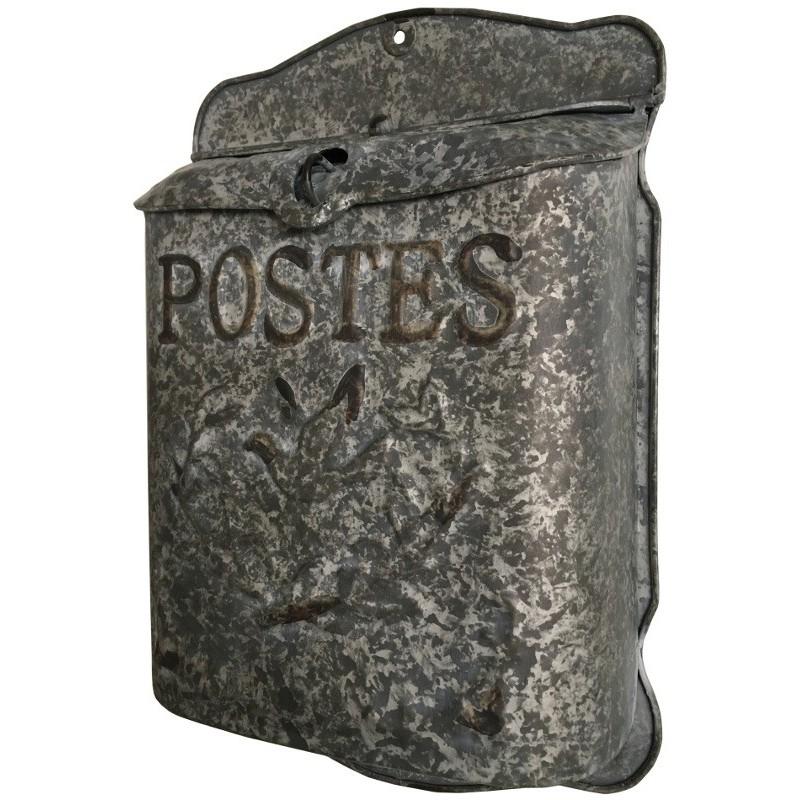 Boîte aux lettres en zinc murale