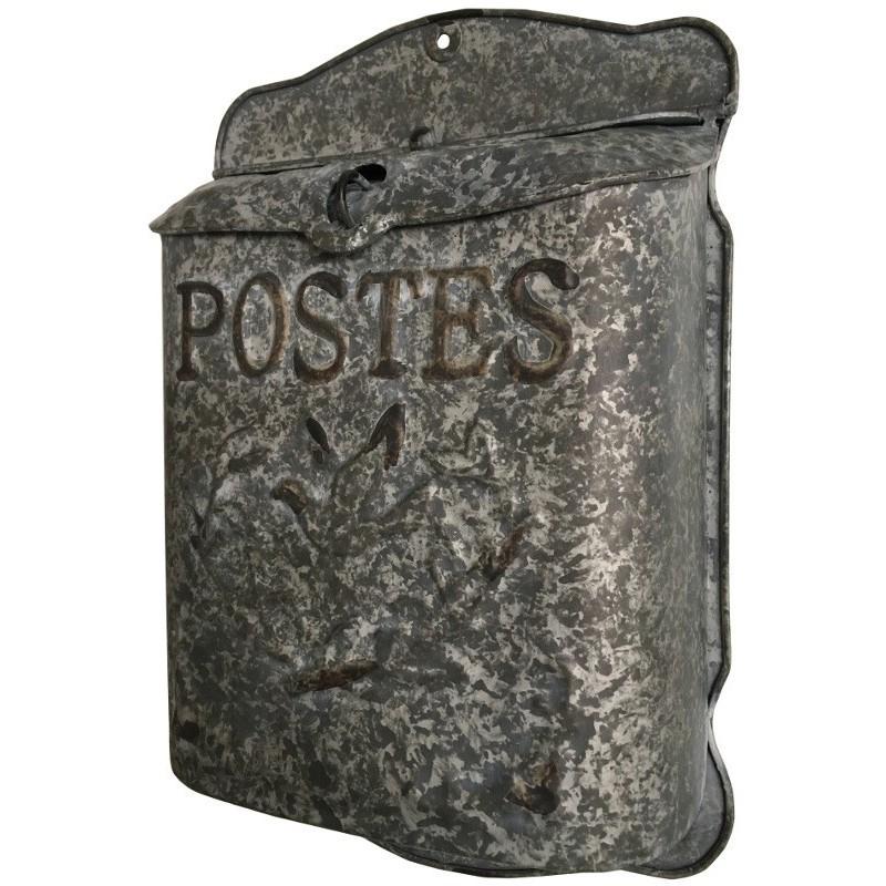 Boîte aux lettres murale couleur zinc