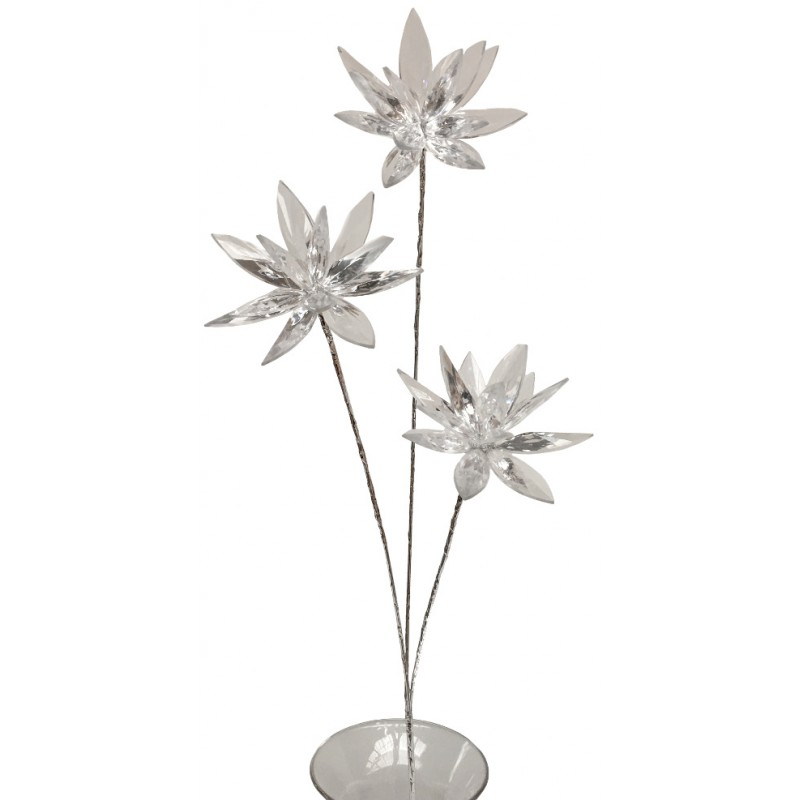 Branche de grande fleur façon cristal