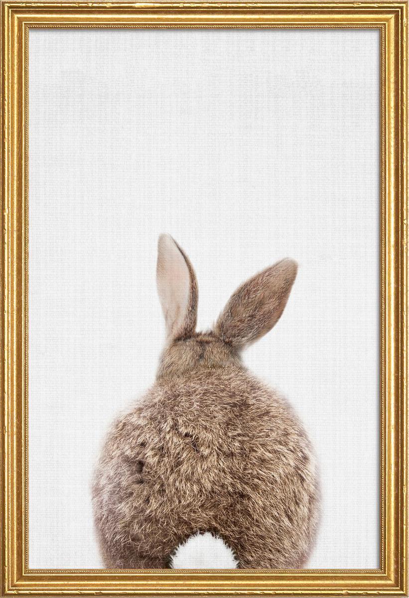 Affiche avec cadre en bois (Doré) en Blanc & Marron/40x60