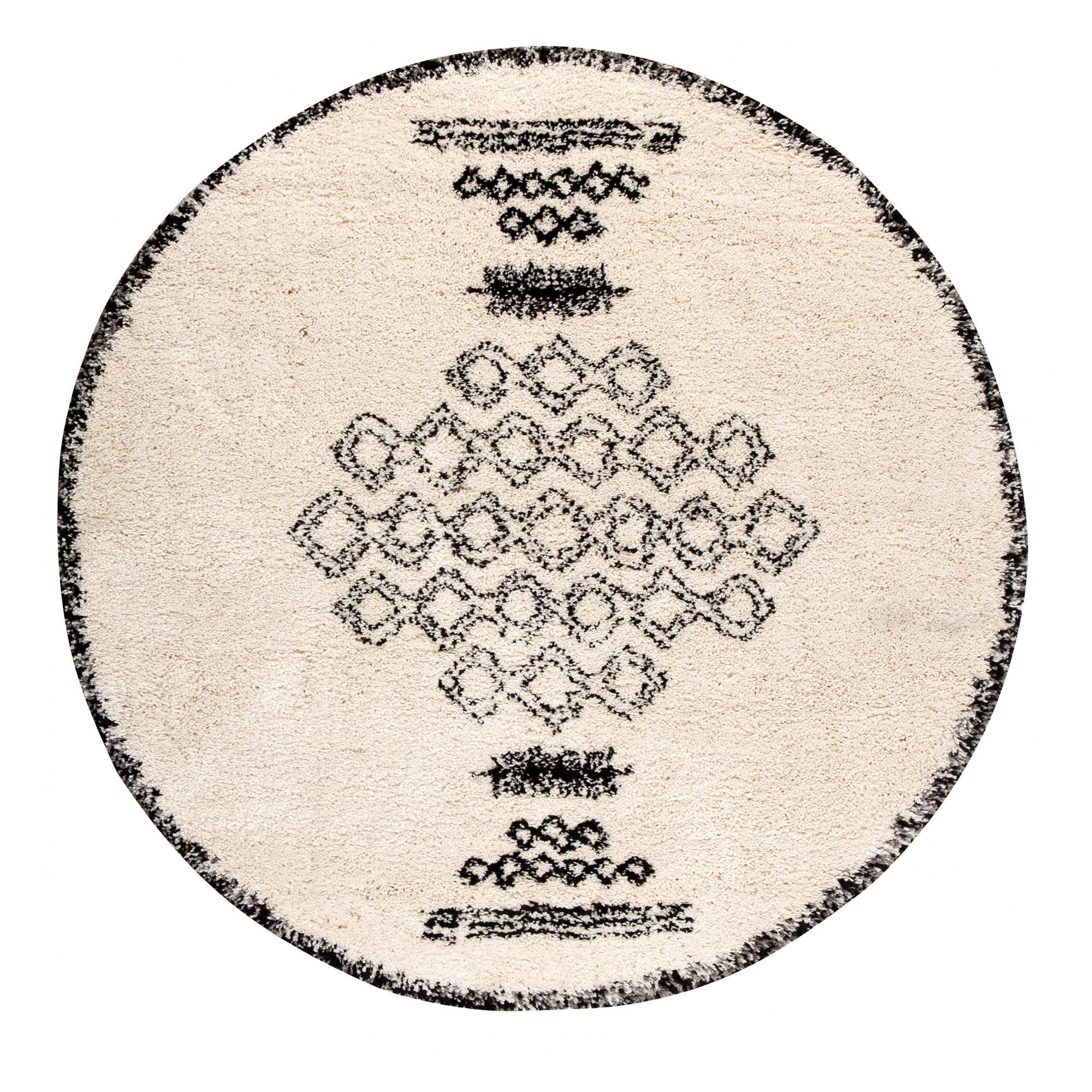 Tapis  en polypropylène neige diamètre 160