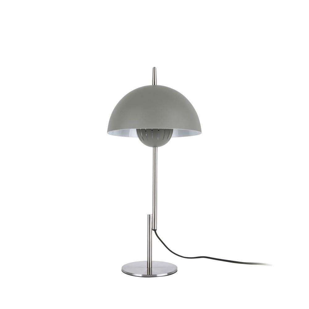 Lampe à poser champignon en métal gris