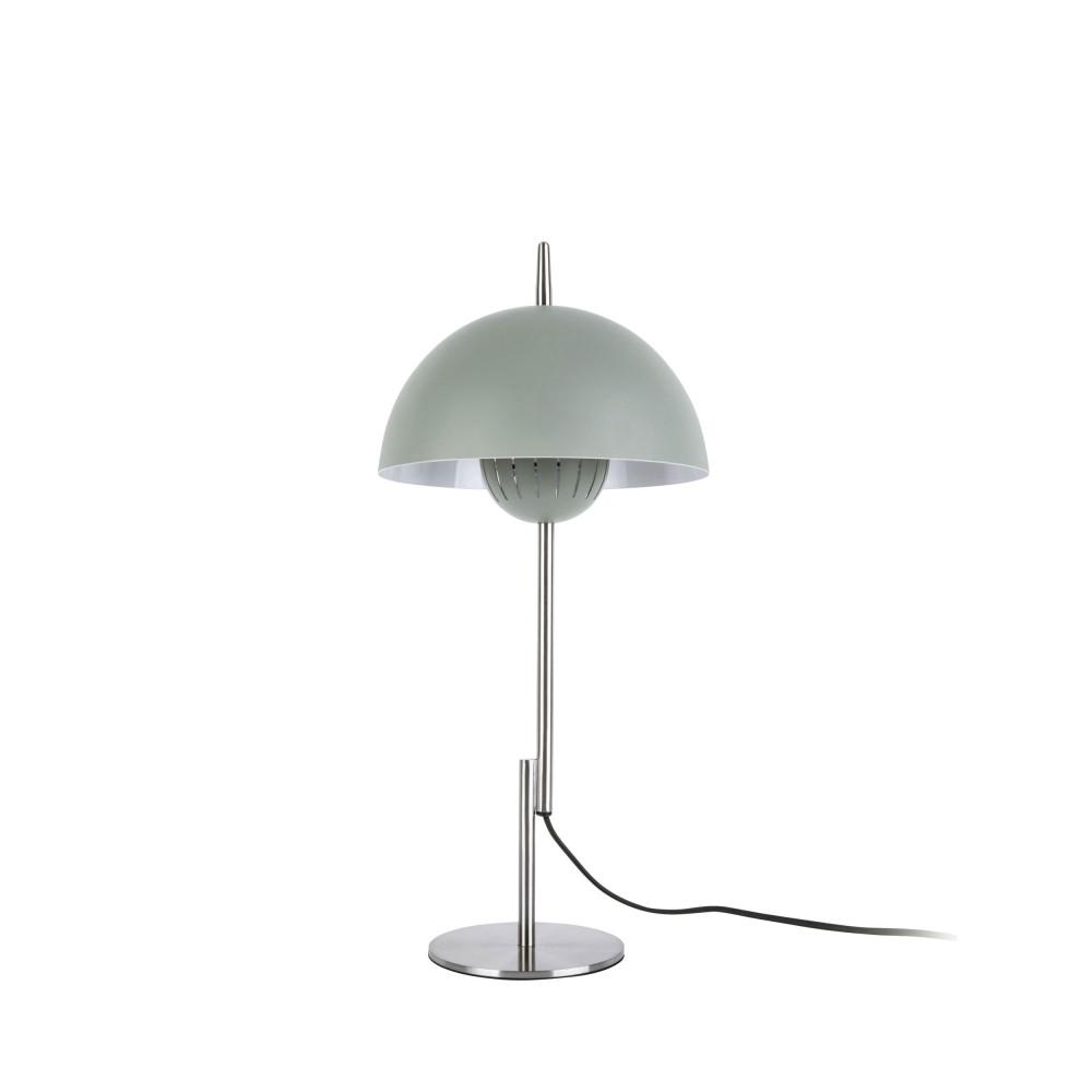 Lampe à poser champignon en métal vert d'eau