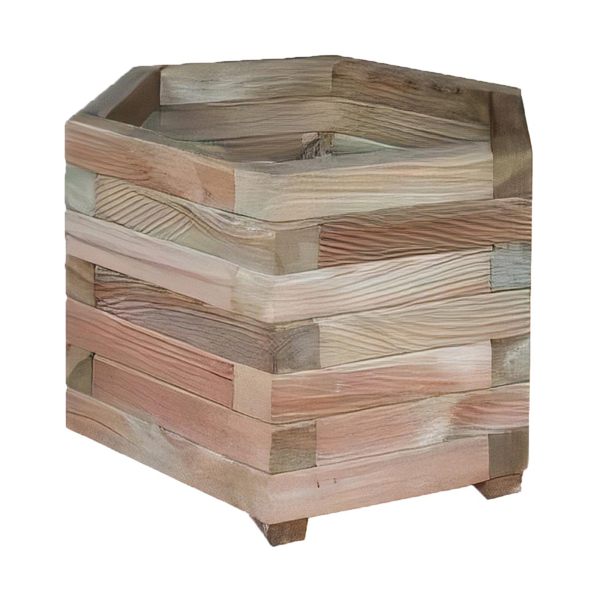 Jardinière hexagonale 50cm en pin traité
