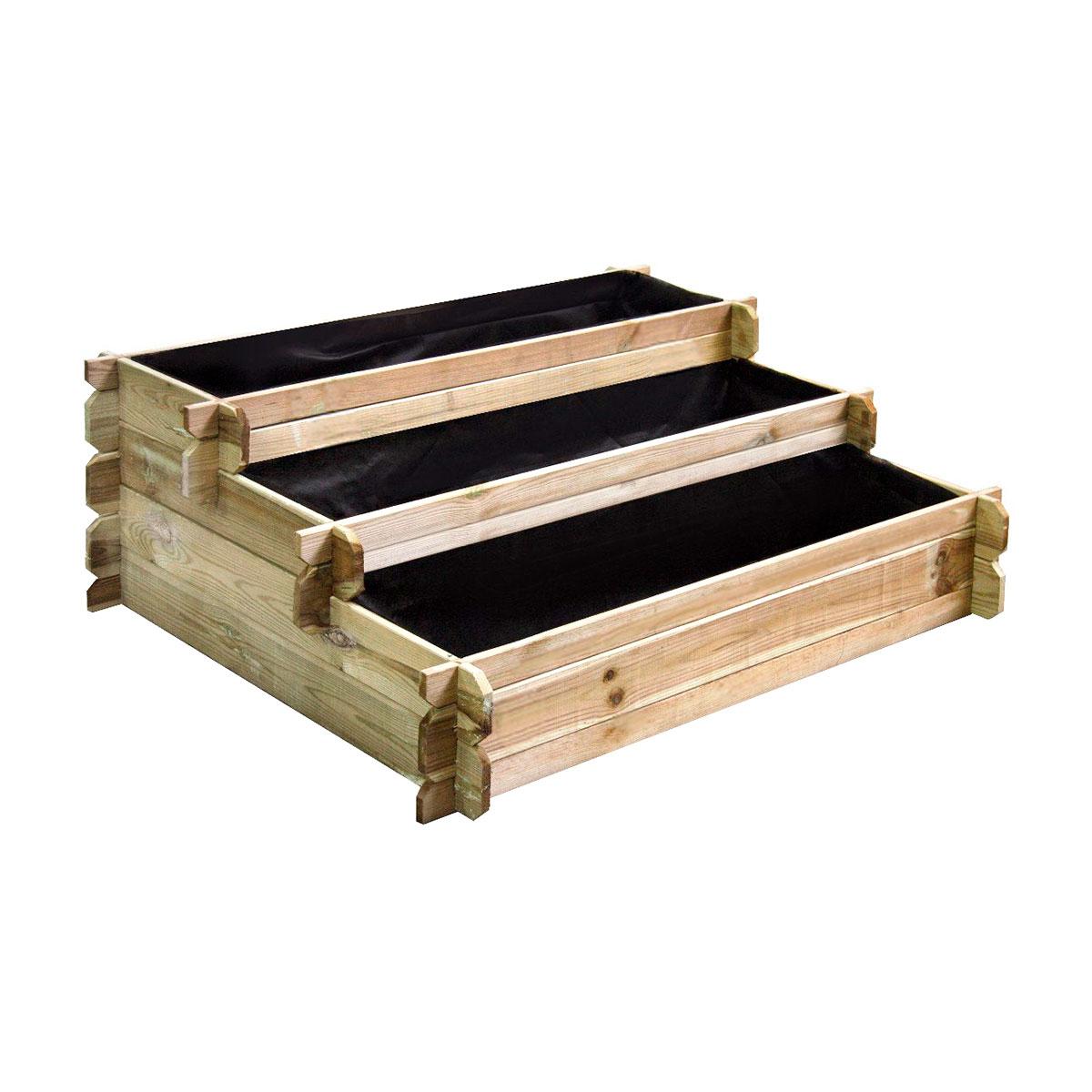 Carré potager en bois à étages en pin traité