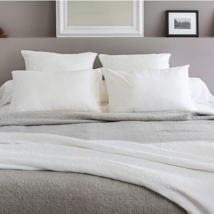 Dessus de lit en 100% coton marron 270x250