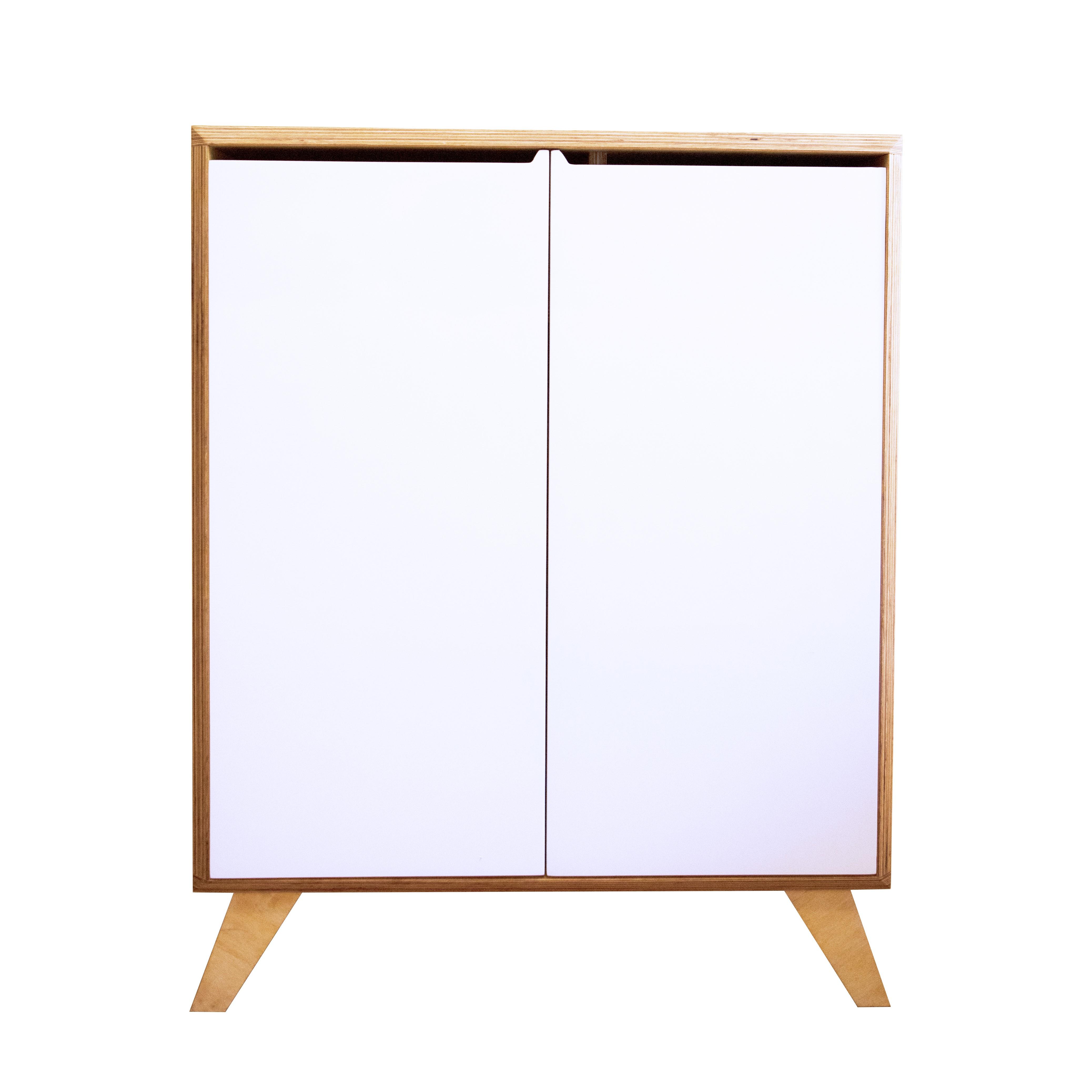 Console Bureau modulable blanc L80 cm
