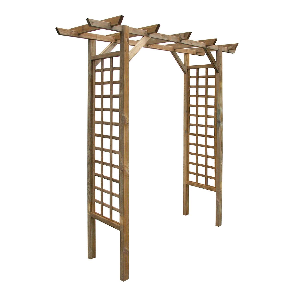 Arche de jardin droite en pin traité