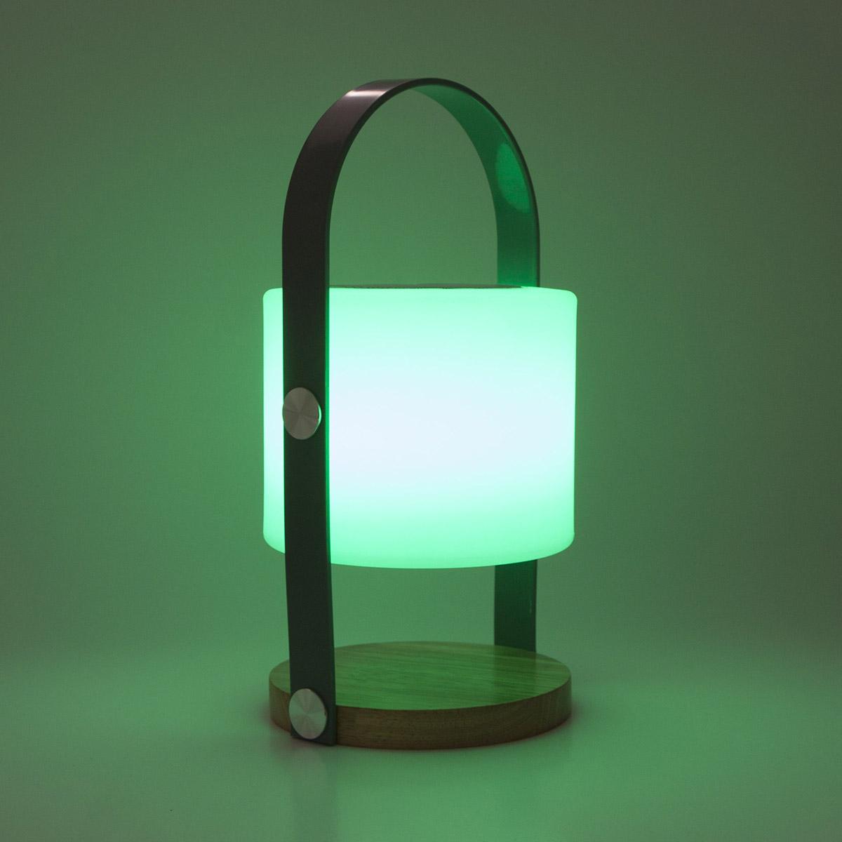 Lampe nomade avec enceinte en polyéthylène blanc