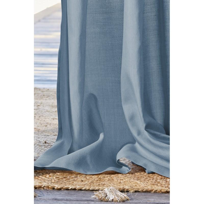 Rideau extérieur bleu 140x250