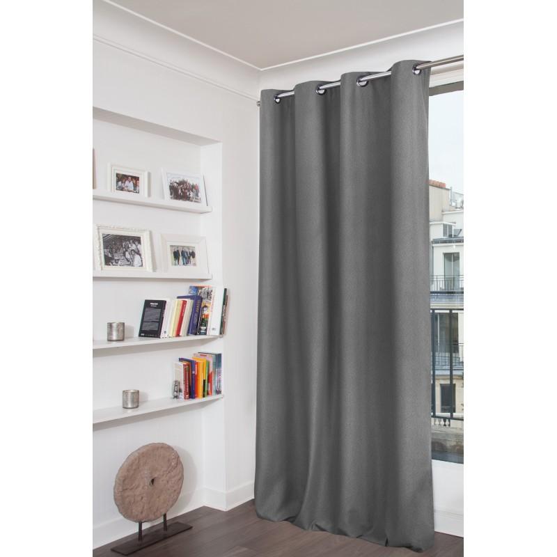 Rideau thermique gris 140x260
