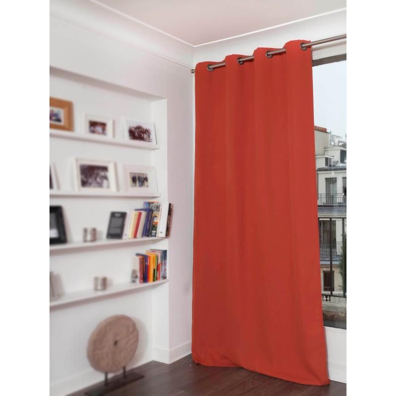 Rideau occultant orange 140 x 260
