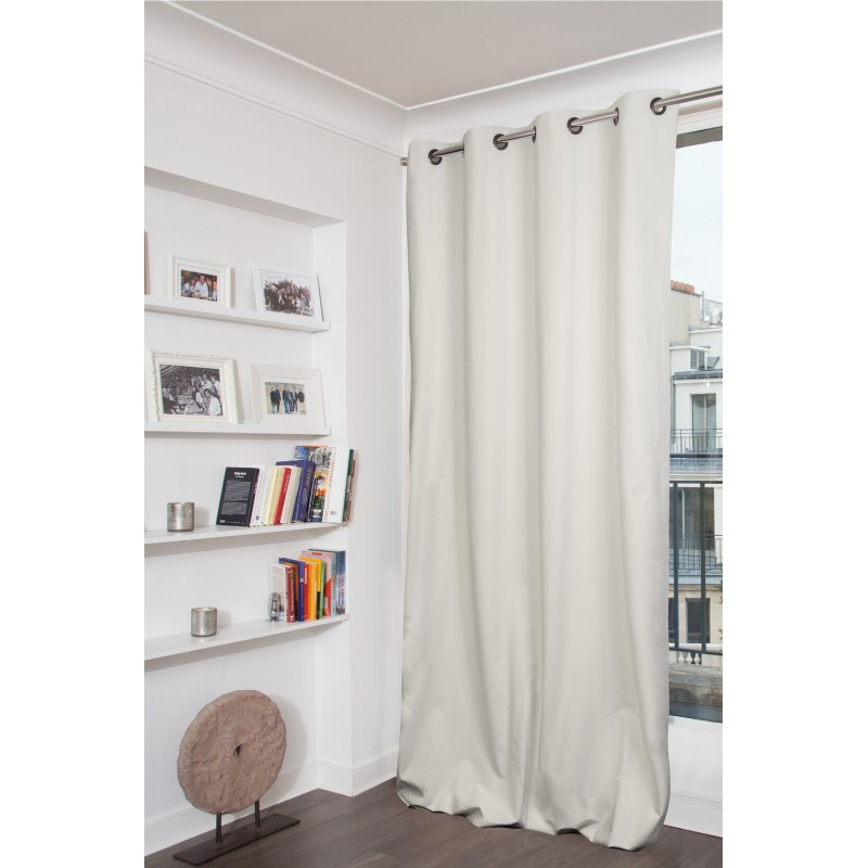 Rideau occultant total blanc 135 x 260