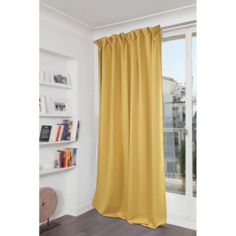 Rideau occultant jaune 140 x 260