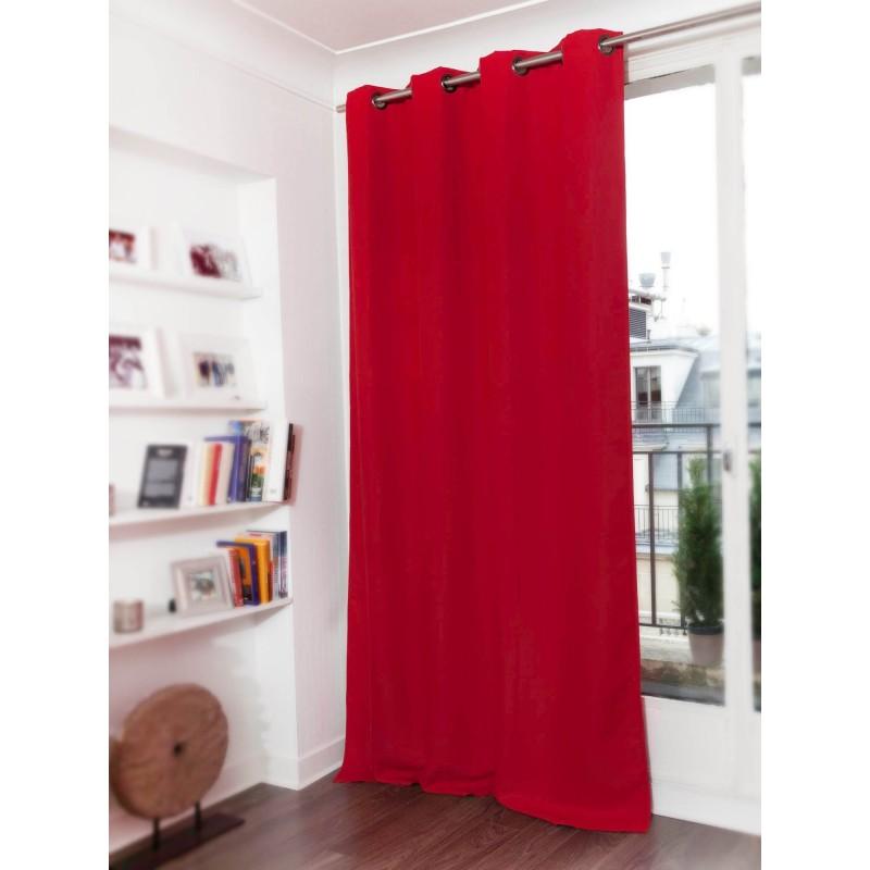 Rideau occultant rouge 140 x 260