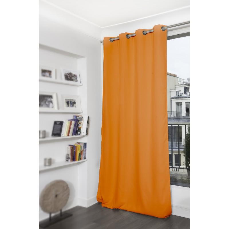 Rideau occultant orange 140 x 300