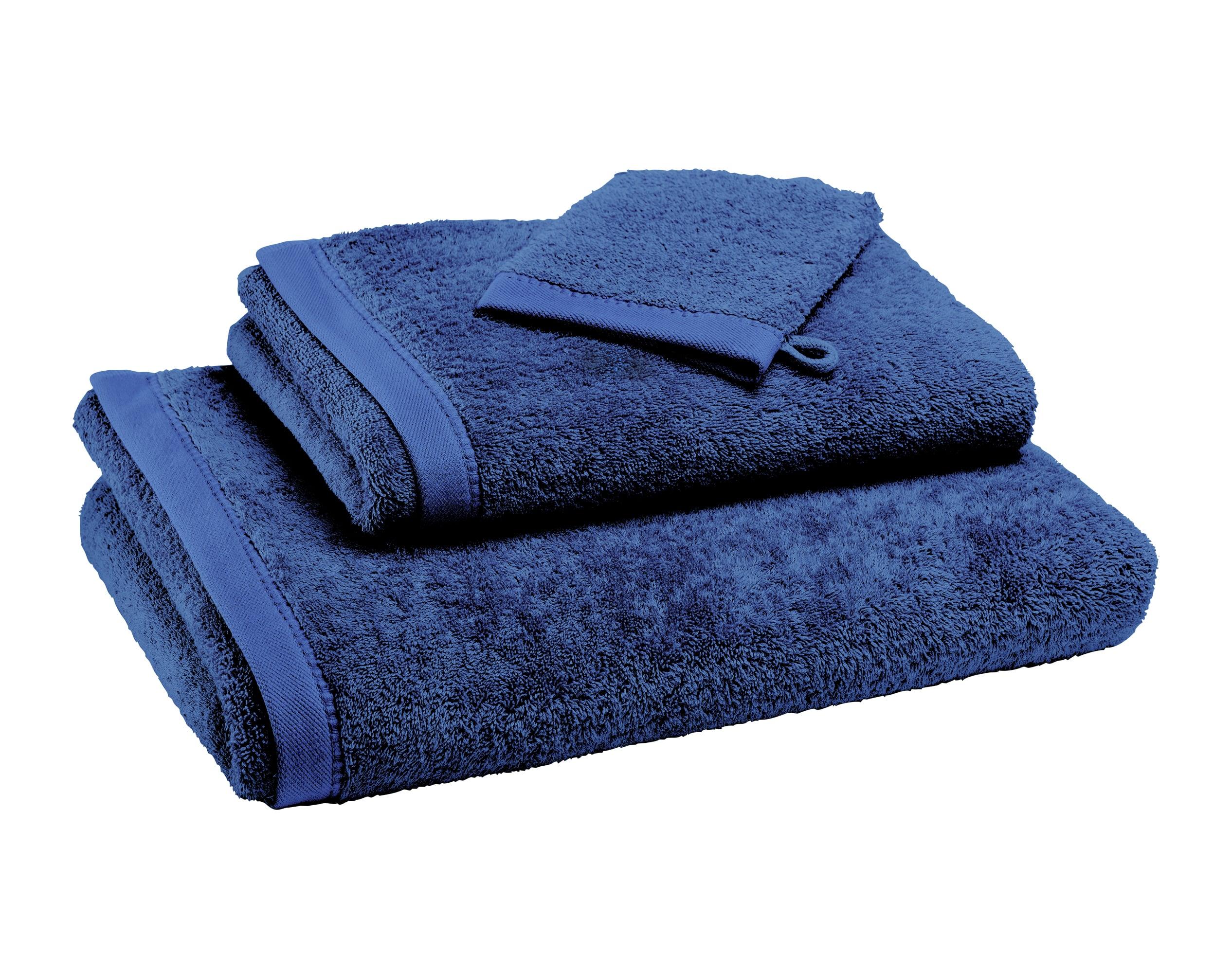 Drap de bain bleu orage 100x150 en coton bio