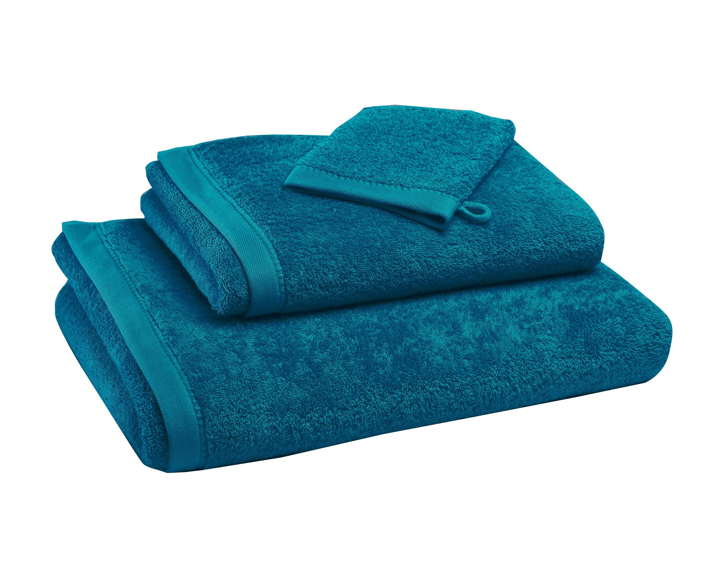Drap de bain bleu 100x150 en coton bio