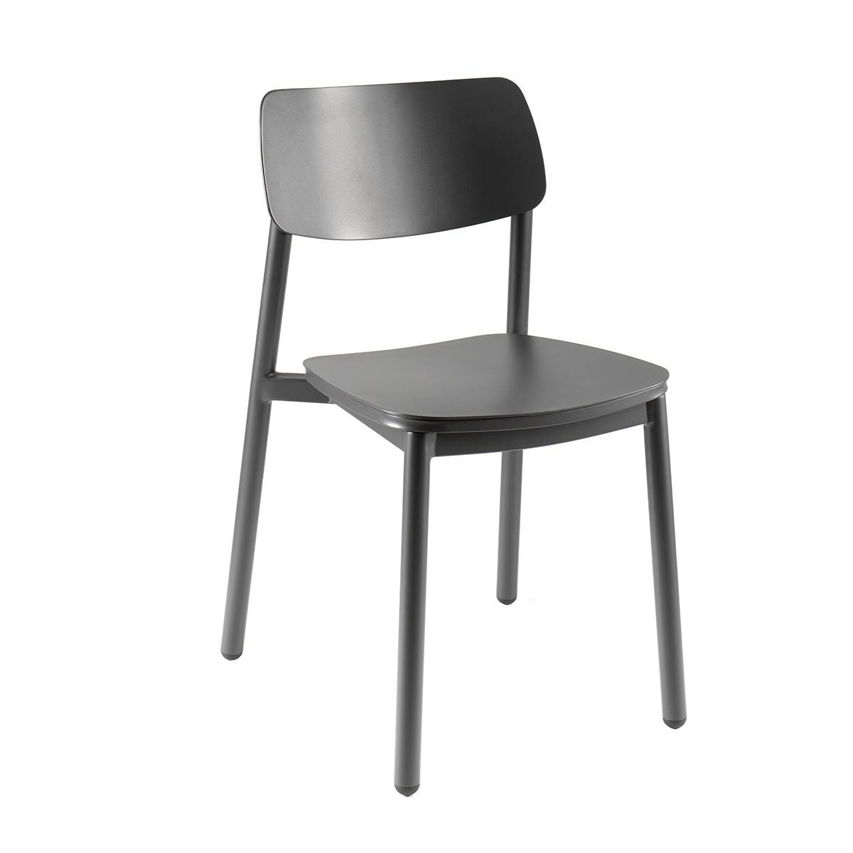 Chaise de jardin en aluminium anthracite