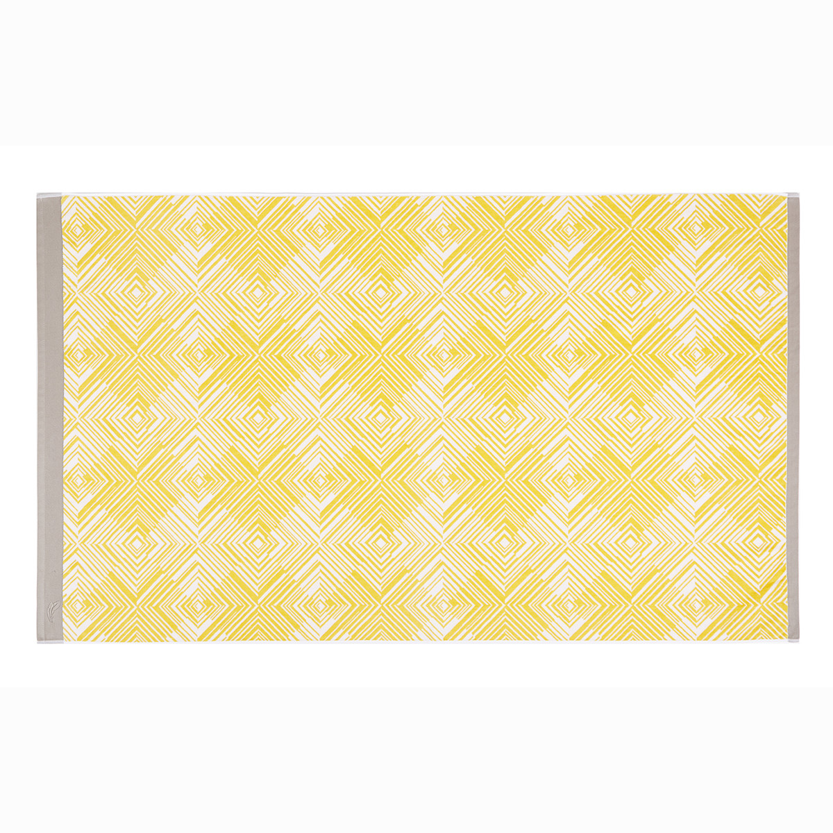 Drap de plage coton 100x180 cm jaune imprimé
