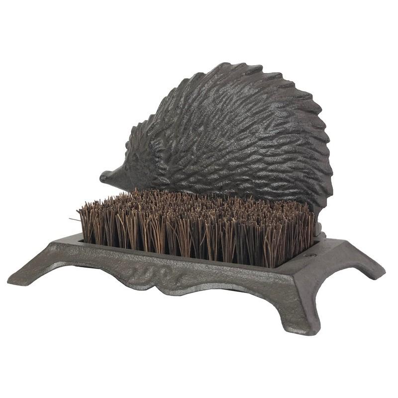 Gratte-pied avec brosse en fibres de coco  hérisson en fonte