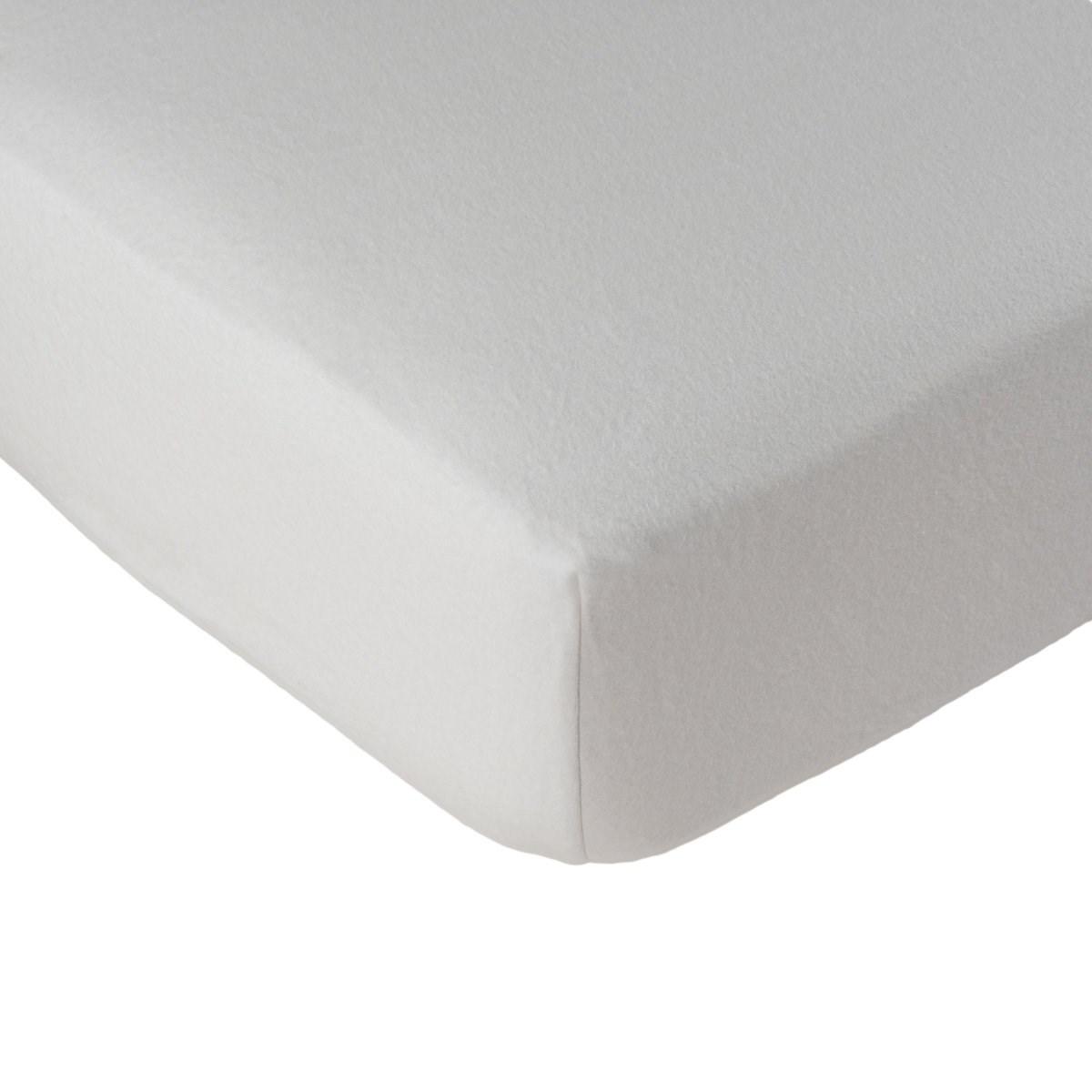 Alèse protège matelas molleton en coton blanc 180x200 cm