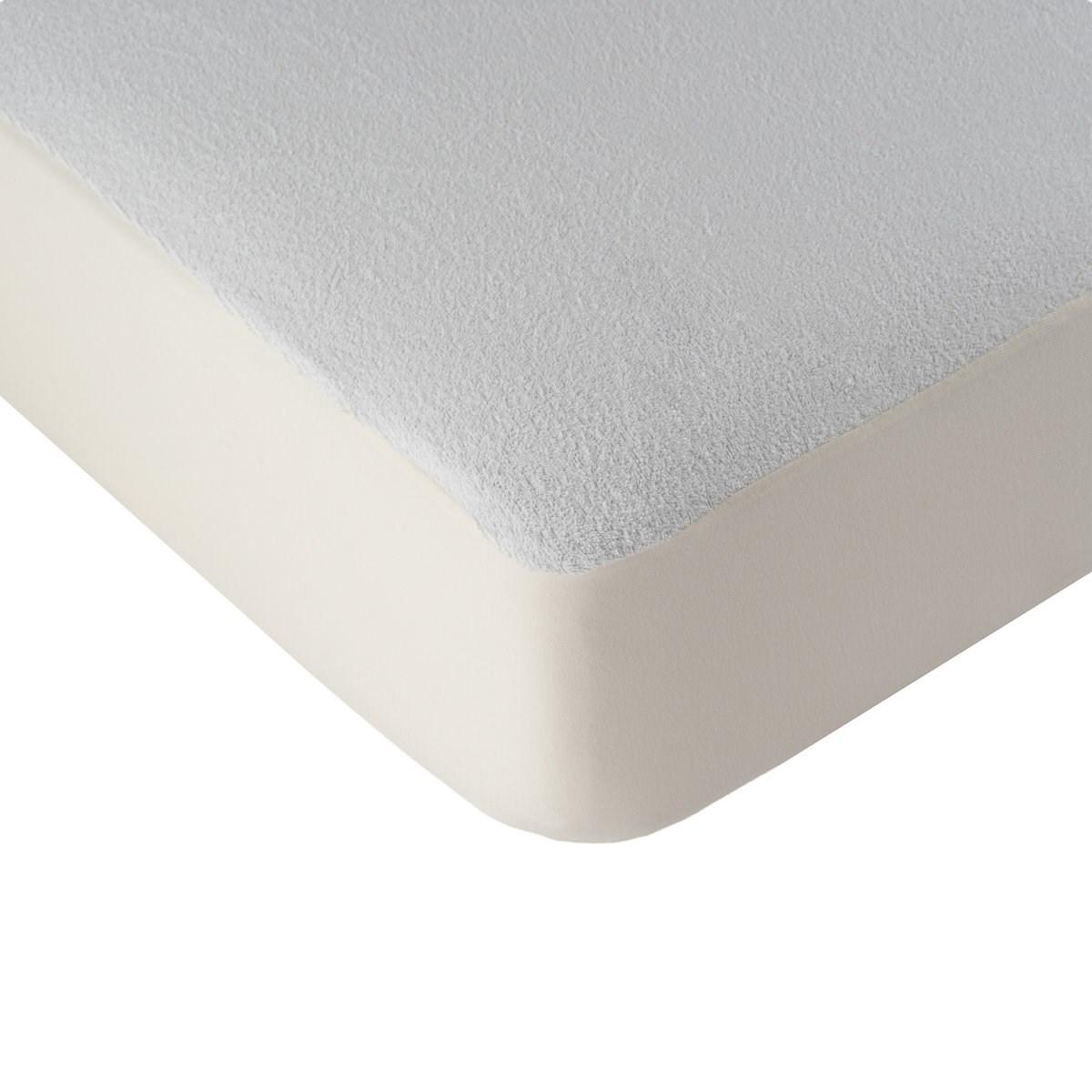 Alèse protège matelas imperméable en coton blanc 180x200 cm