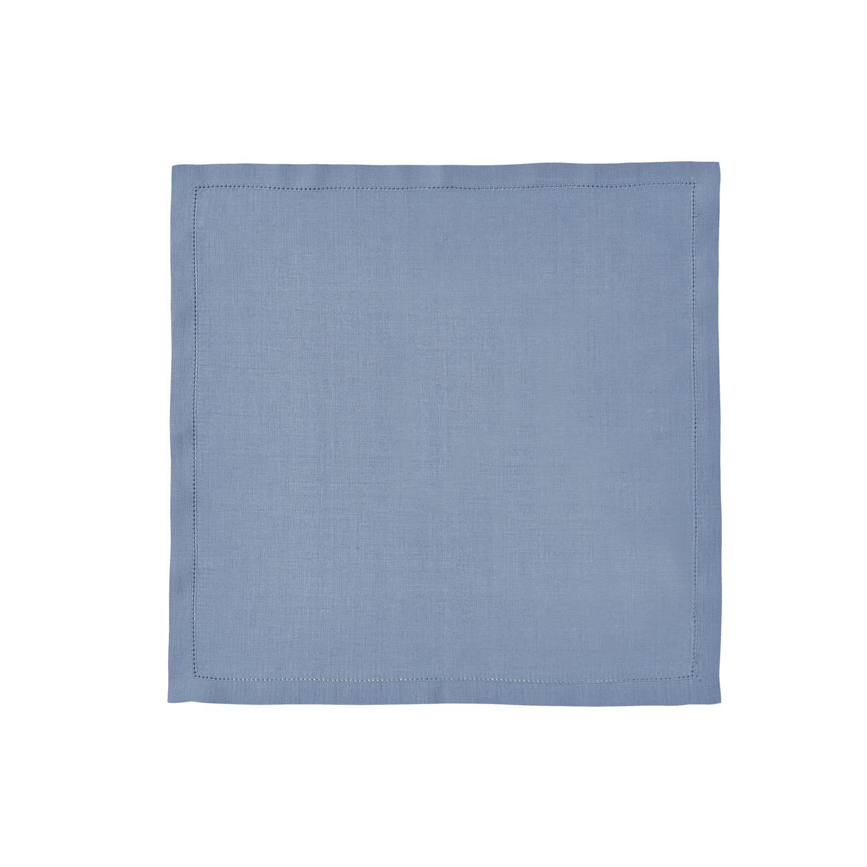 Serviette de table en lin bleu egée 50x50cm