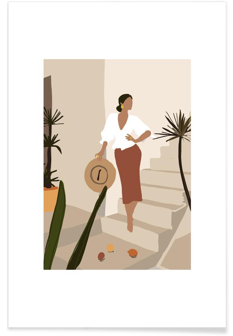 Affiche en Blanc ivoire & Gris/40x60