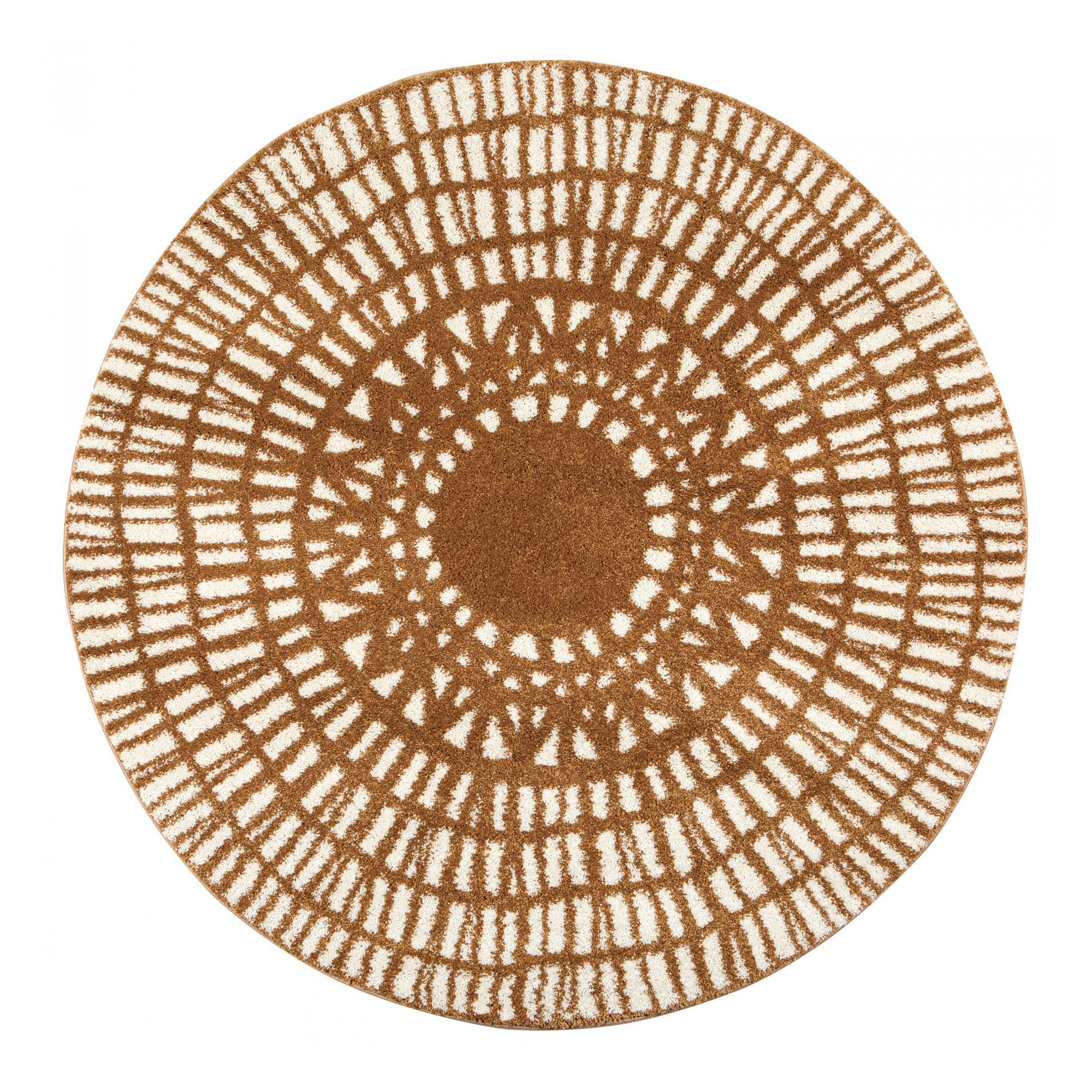 Tapis  en polypropylène bronze diamètre 160