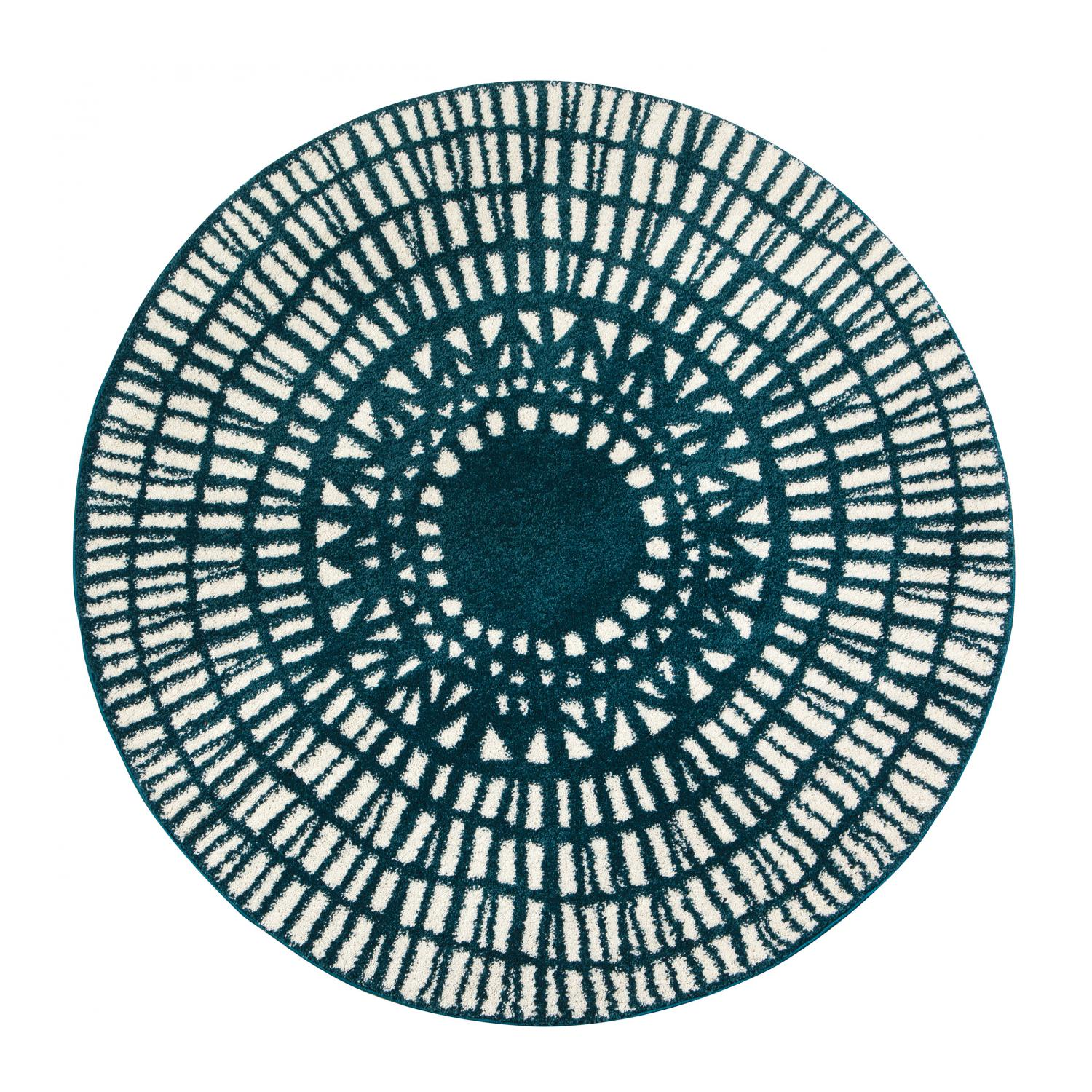 Tapis  en polypropylène paon diamètre 160