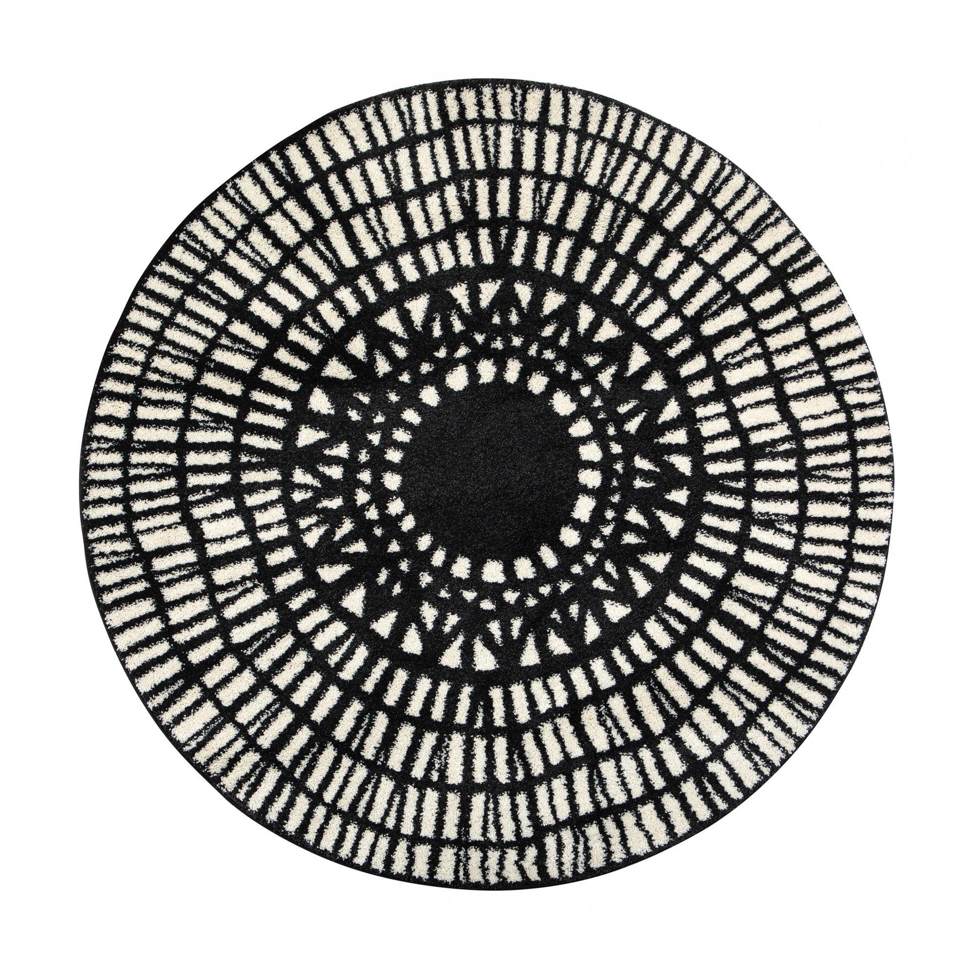 Tapis  en polypropylène ombre diamètre 160