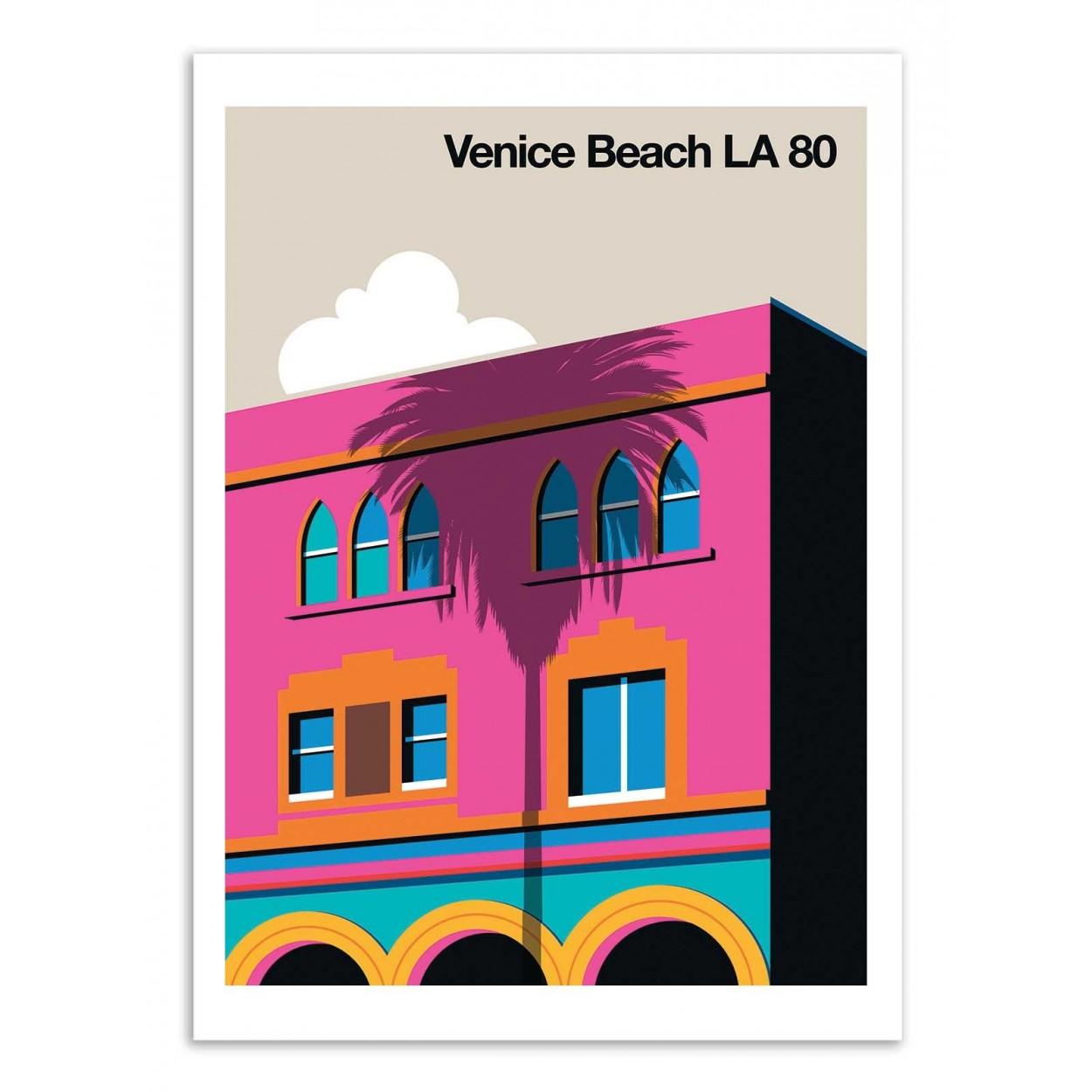 VENICE BEACH LA 80 -  Affiche d'art 50 x 70 cm