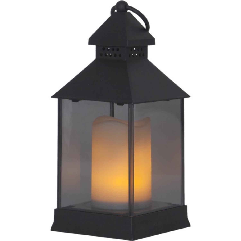 Lanterne d'extérieur LED polypropylène à piles H20cm