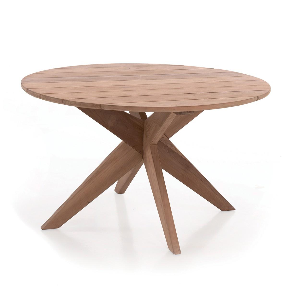 Table ronde en teck massif D 135 cm Sakai