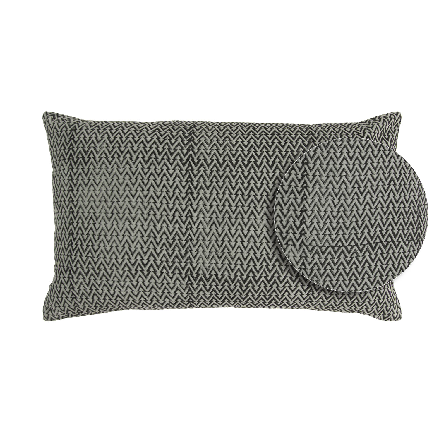 Coussin  en coton ciment 30 x 50 (photo)