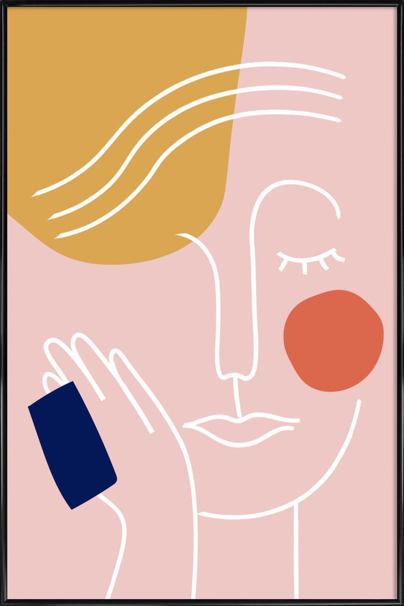 Affiche avec cadre standard (Noir) en Multicolore/60x90