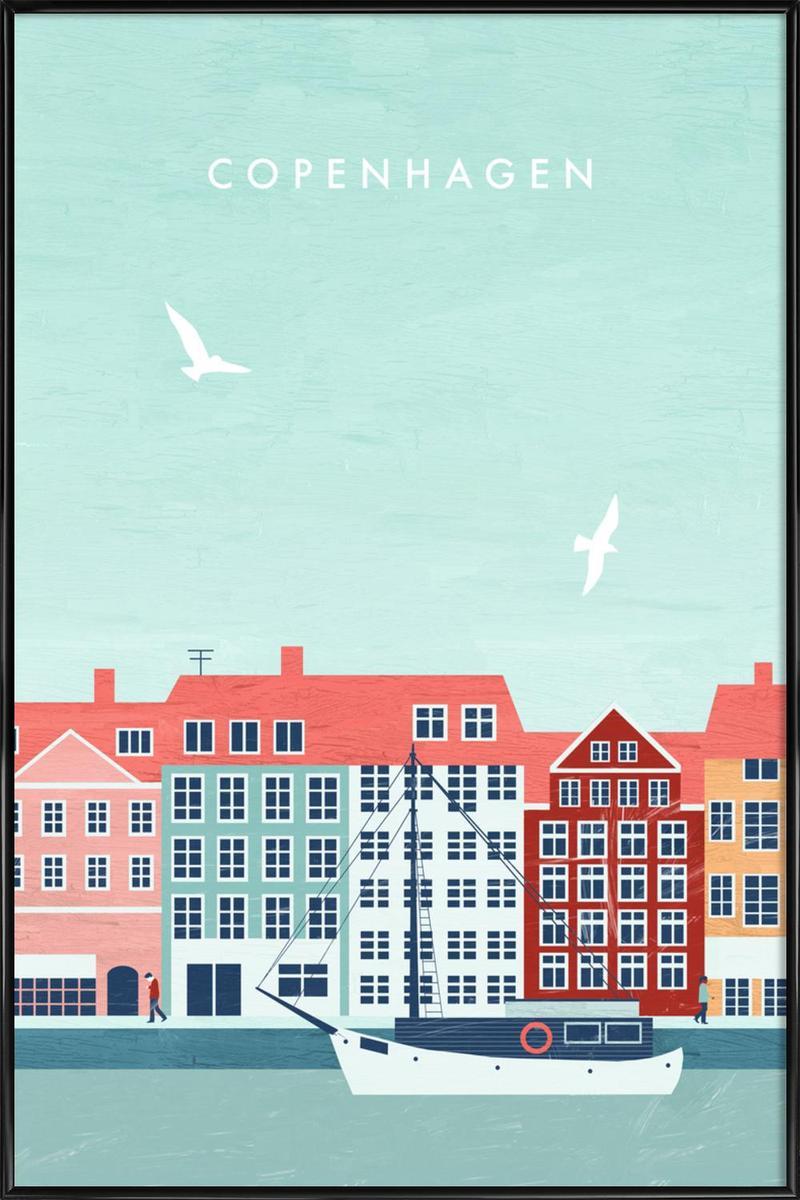 Affiche avec cadre standard (Noir) en Multicolore/20x30