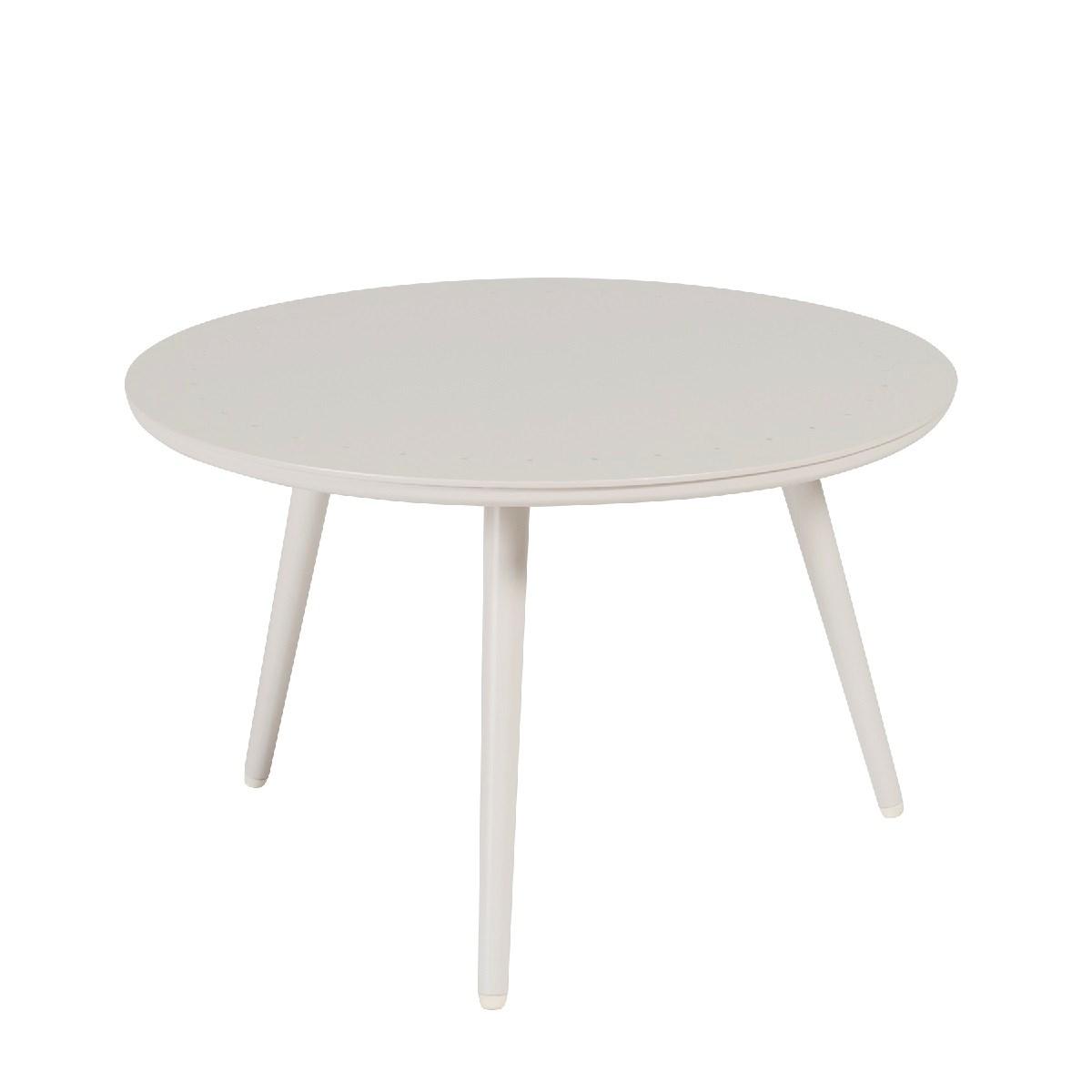 Table basse de jardin ronde en aluminium D60 beige clair