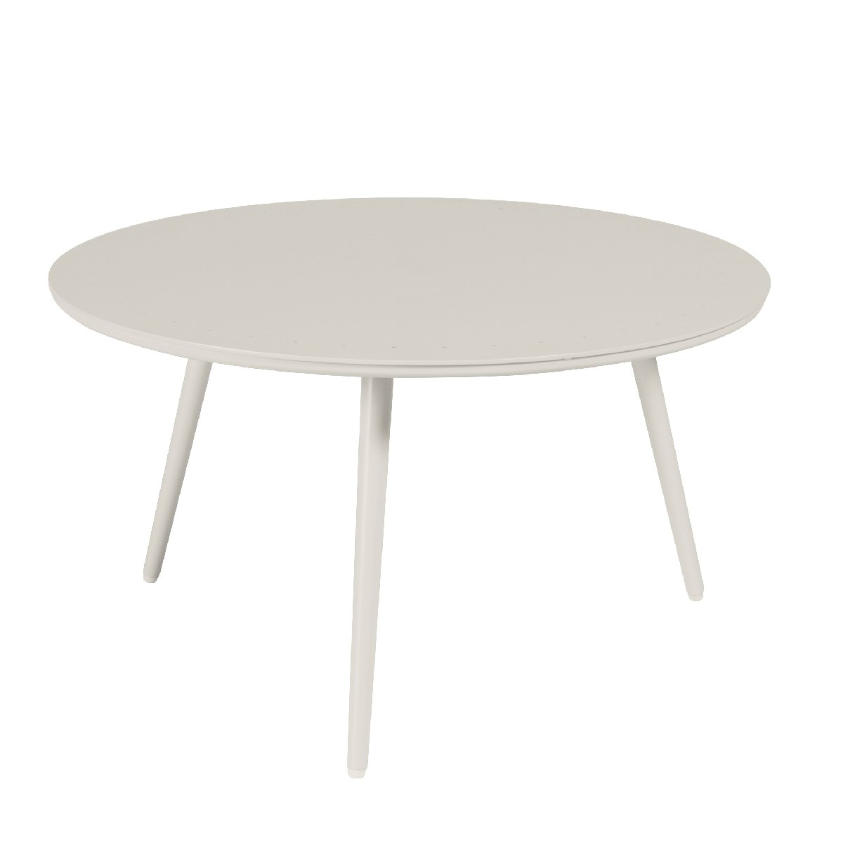 Table basse de jardin ronde en aluminium D80 beige clair