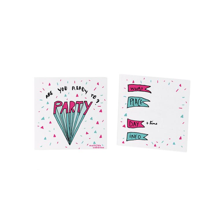 Invitation d'anniversaire Party