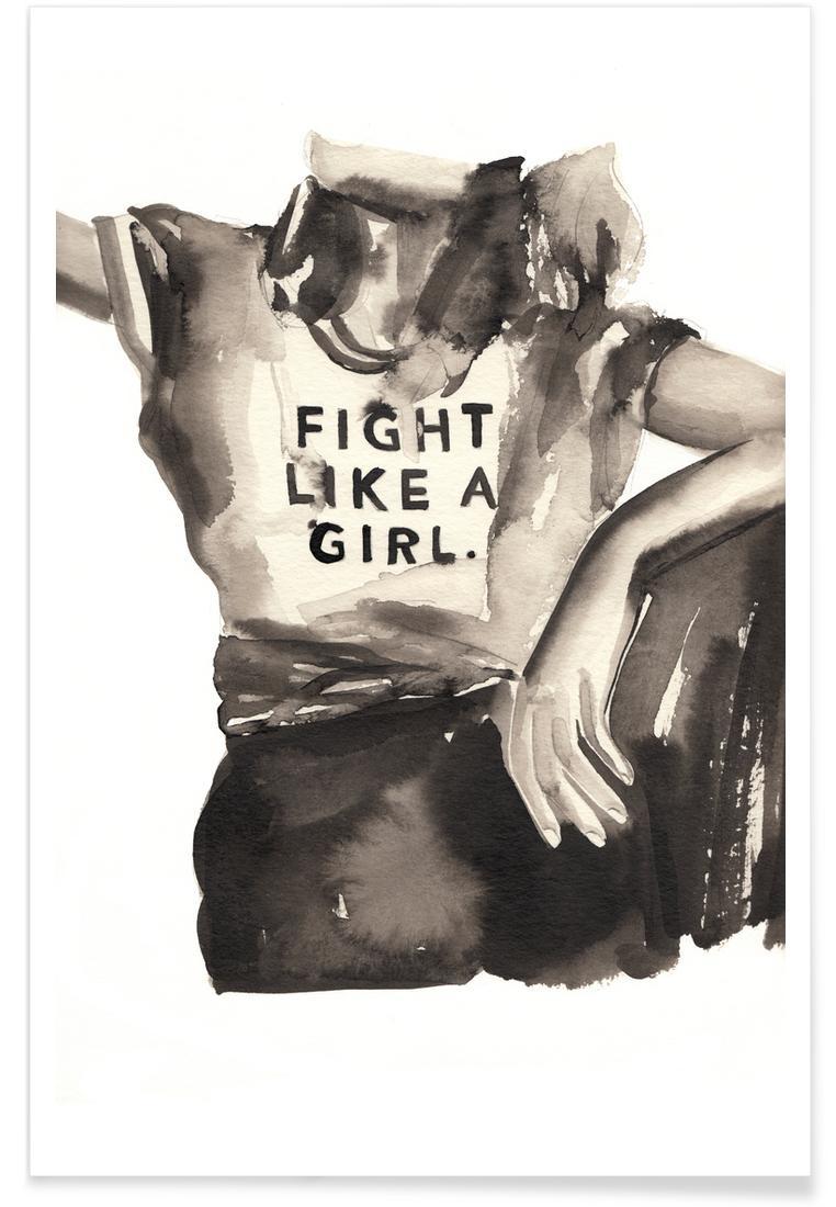 Affiche en Blanc & Blanc ivoire/20x30