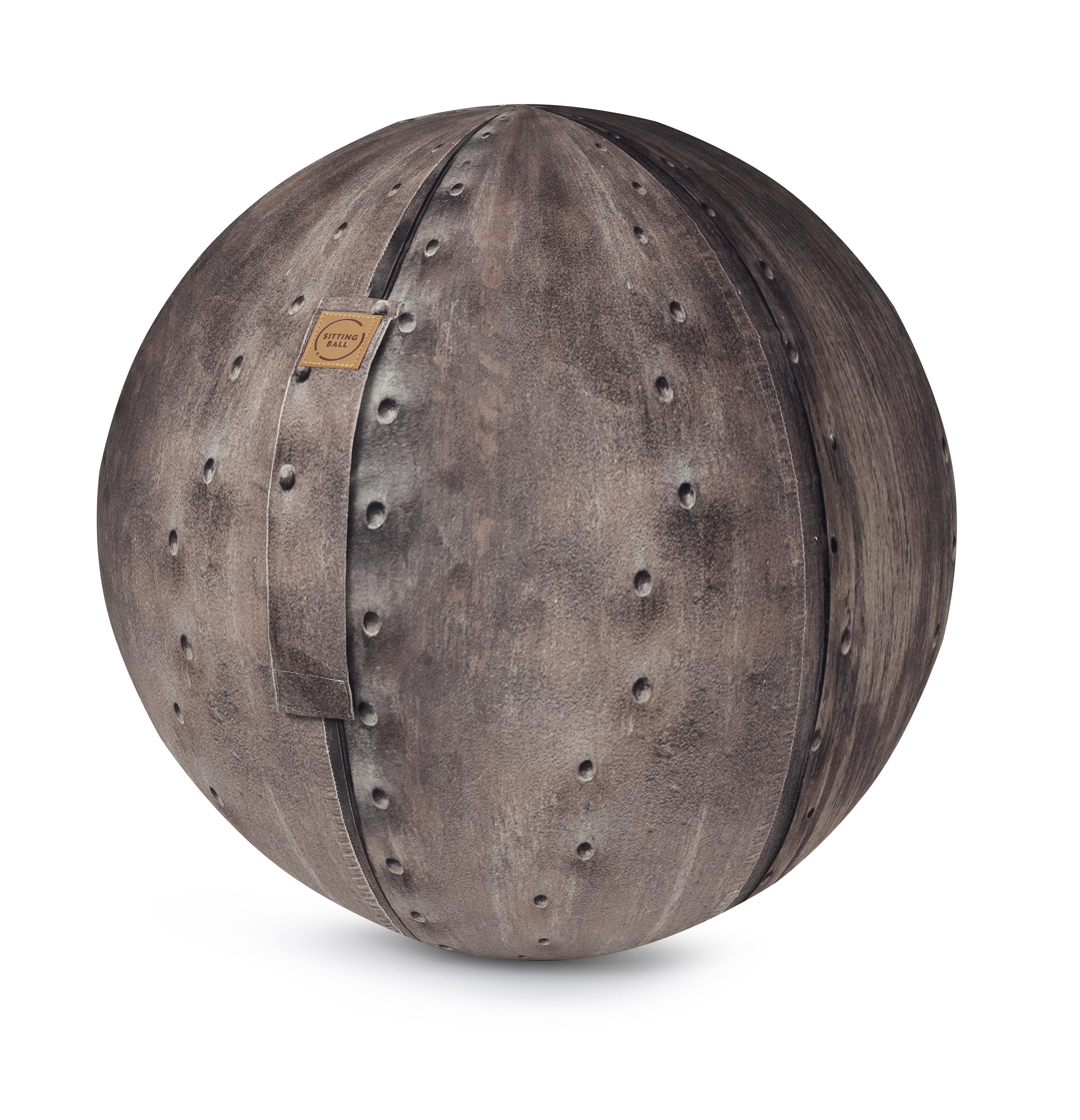 Balle d'assise motif métal avec poignée polyester D65